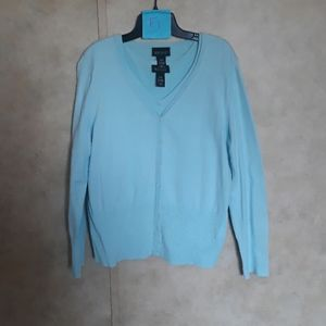 Turquoise Cardigan with top